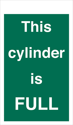 This cylinder is full sign.