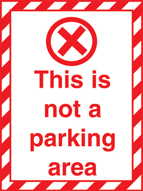 This is not a patking area removable parking stickers for car windscreens sign.