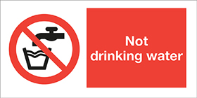 Not drinking water sign.