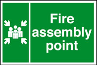Fire assembly point sign.