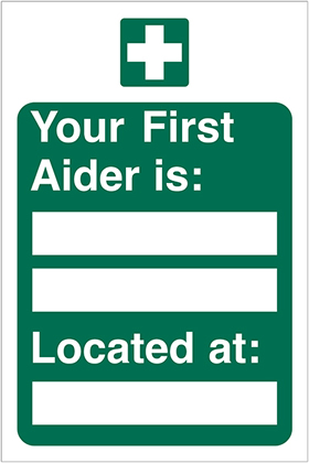 Your first aider is sign.