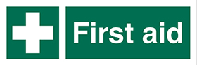 cross first aid sign.