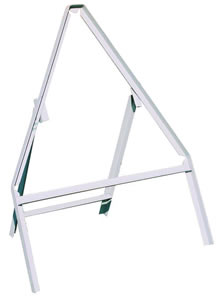 Triangluar stanchion durble grey painted aluminium stanchion sign.