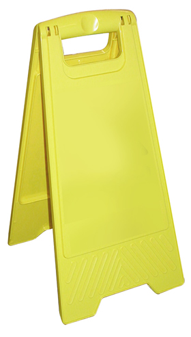 Customisable yellow a board sign price includes own text sign.