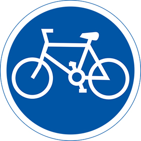 Cycle lane 3mm aluminium sign.