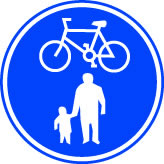 Cycle & pedestrian lane 3mm aluminium sign.