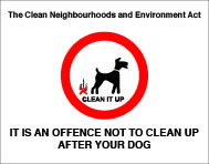 The dogs (fouling of land) act1996 without channel sign.