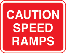 caution speed ramps without channels sign.