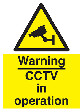 Warning CCTV in operation sign.