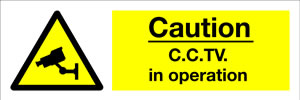 Caution-CCTV in operation sign.