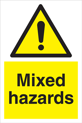 Mixed hazards sign.