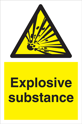 Explosive substance sign.