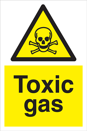 Toxic Gas sign.