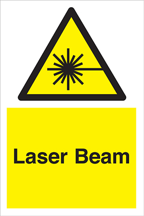 Lazer beam sign.