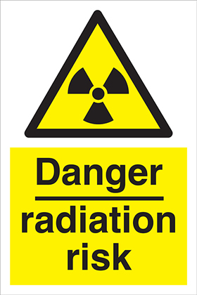 Danger radiation risk sign.