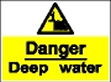 Danger deep water sign.