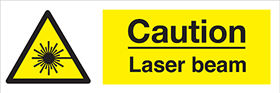 Caution laser beam sign.