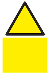 Blank warning sign with no text sign.