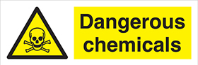 Dangerous Chemicals sign.
