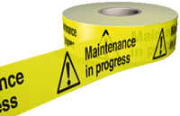 Maintenance in progress sign.