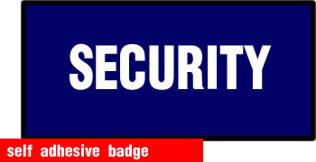 self adhesive security badge 100x50mm sign.