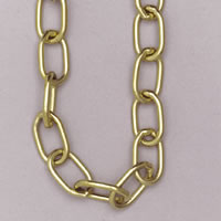 Brass link chain sign.