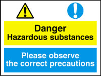 Danger hazardous substances - pleasesign.