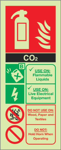 Co2 extinguisher sign.