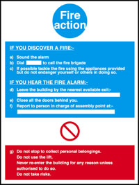 If you discover a fire action notice.
