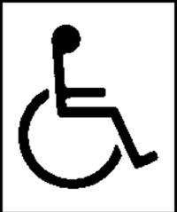 Disabled symbol toilet signs.
