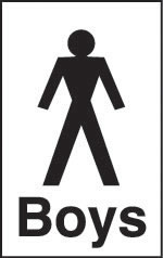 Boys toilet signs.