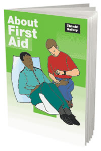 About first aid booklet sign.