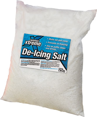 Fast acting, high purity salt for de icing snow and ice leaving virtually no residue.