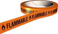 Flammable hazard tape.