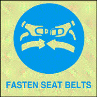 Fasten seat belts sign.