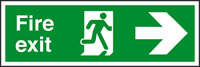Fire exit arrow right sign.