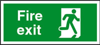 Fire exit (right) running man sign.