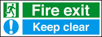 Fire exit - keep clear sign.