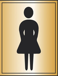 Toilet woman symbol sign.