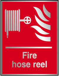 Fire hose reel prestige sign.