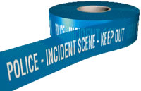 Police-incident scene-keep out sign.