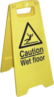 Caution wet floor sign.