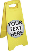 Customisable yellow a board sign price includes own text printable area = 232x345mm sign.