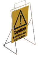 Caution-maintenance in progress requires st4 or st1 frame sign.