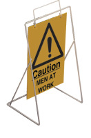 Caution-men at work requires st4 or st1 frame sign.