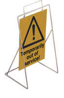 Caution-temporarily out of service requires st4 or st1 frame sign.