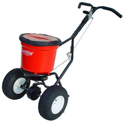heavy duty broadcast spreader 23kg. Ideal spreader for daily use of de-icing large car parks. Our universal spreader is robust enough for everyday use of large areas, such as car parks and pedestrianised areas on your premises.