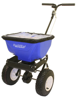high output broadcast spreader 30kg. Ideal spreader for use when high output of large particles is required. Commercial spreader that is best suited to commercial use for regular de-icer. Ideal for large areas.