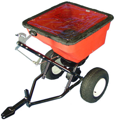 heavy duty tow spreader 45kg heavy duty grit spreader ideal for towing behind forklifts, small tractors and quad bikes.