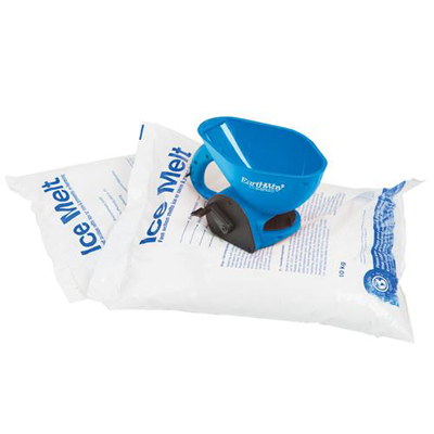 ice melt kit with 2 bags 1 hand spreader. Be fully prepared for winter with this money-saving kit contains 2 x 10kg ice melt and a hand held spreader.